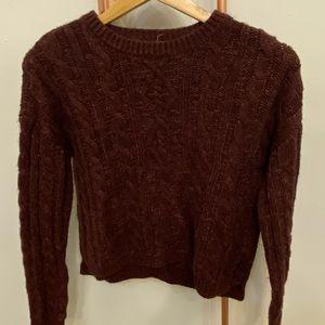 Burgundy Knit Garage Sweater